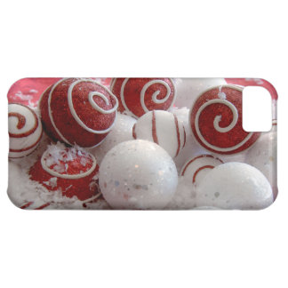 Red and White Christmas Ornaments iPhone 5C Cover