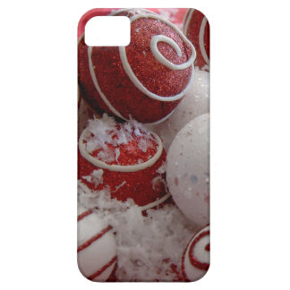 Red and White Christmas Ornaments iPhone 5 Covers