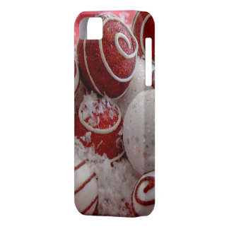 Red and White Christmas Ornaments iPhone 5 Case