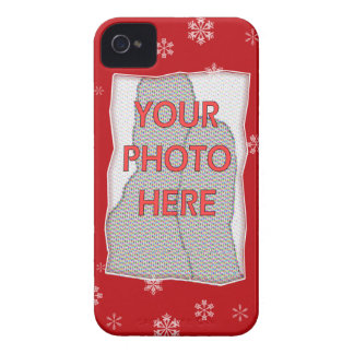 Red and white Christmas Snowflakes pattern Case-Mate iPhone 4 Case