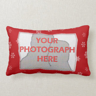 Red and white Christmas Snowflakes pattern Pillow
