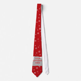 Red and white Christmas Snowflakes pattern Tie