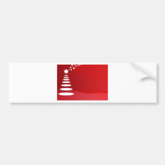 red and white christmas tree bumper sticker