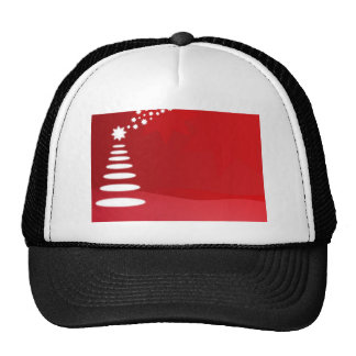 red and white christmas tree hats