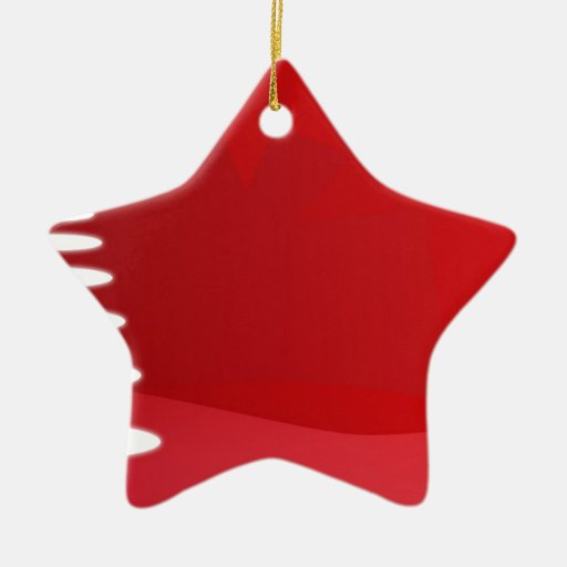 red and white christmas tree Double-Sided star ceramic christmas ornament