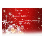 Red and White Christmas Wedding RSVP Custom Announcement
