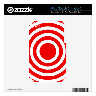 Red and White Circles Skin For iPod Touch 4G