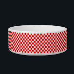 """Red And White Classic Checkerboard by STaylor Bowl<br><div class=""""desc"""">Red and white checkerboard bowl. Images Copyright &#169; Shirley Taylor. All Rights Reserved.</div>"""