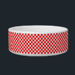 "Red And White Classic Checkerboard by STaylor Bowl<br><div class=""desc"">Red and white checkerboard bowl. Images Copyright &#169; Shirley Taylor. All Rights Reserved.</div>"