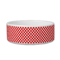 Red And White Classic Checkerboard by STaylor Bowl