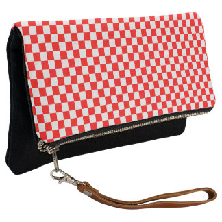 Red And White Classic Checkerboard by STaylor Clutch