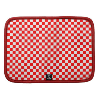 Red And White Classic Checkerboard Planners