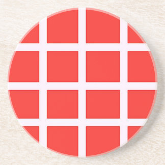 Red and White Coaster