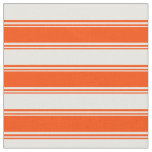 [ Thumbnail: Red and White Colored Lines Pattern Fabric ]