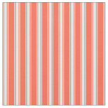 [ Thumbnail: Red and White Colored Striped/Lined Pattern Fabric ]
