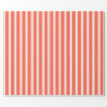 [ Thumbnail: Red and White Colored Striped/Lined Pattern Wrapping Paper ]