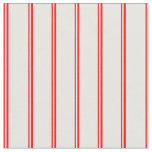 [ Thumbnail: Red and White Colored Striped Pattern Fabric ]