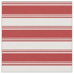 [ Thumbnail: Red and White Colored Stripes Fabric ]