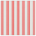 [ Thumbnail: Red and White Colored Stripes Pattern Fabric ]