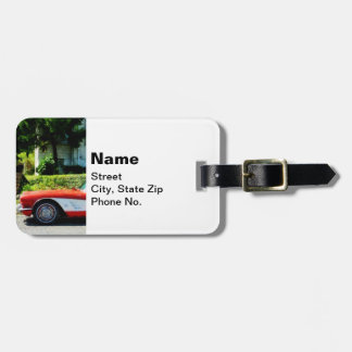Red and White Corvette Convertible Bag Tag