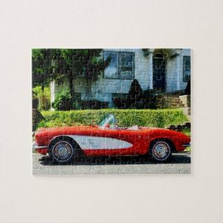 Red and White Corvette Convertible Puzzle