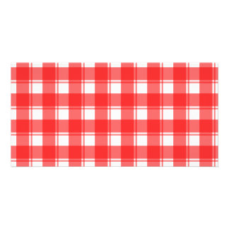 Red and White Country Striped Plaid Card