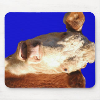 Red and White Cow Mouse Pad