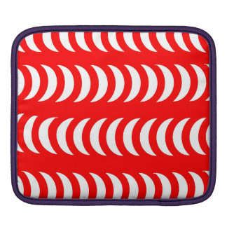 Red And White Crescent Moons iPad Sleeves