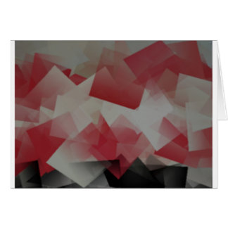 Red and White Cubes Card