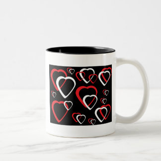 Red and White Cutout Heart Mug