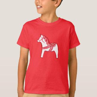Red and White Dala Horse Shirt