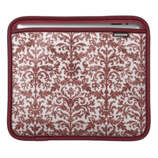 Red and White Damask Wallpaper Pattern Sleeve For iPads