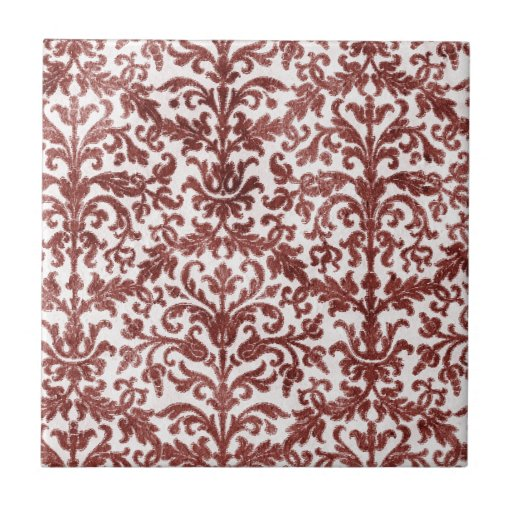 Red And White Patterned Wallpaper: Red And White Damask Wallpaper Pattern Tile