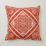 Red and White  Design Throw Pillow