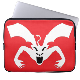 Red And White Devil Laptop Sleeves