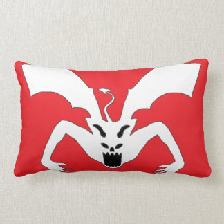 Red And White Devil Lumbar Pillow