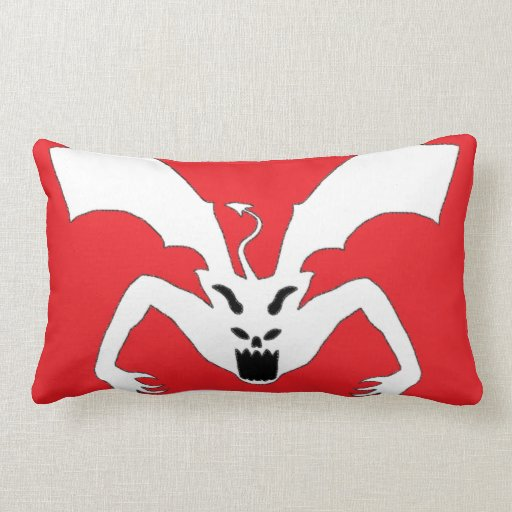 Red And White Devil Throw Pillow Zazzle