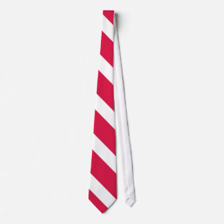 Red and White Diagonally-Striped Tie II