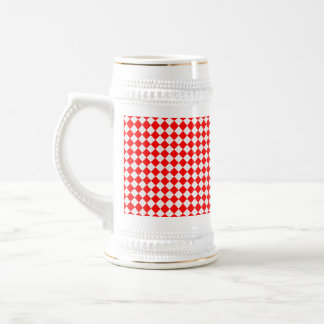 Red and White Diamond Pattern by Shirley Taylor Beer Stein