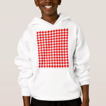 Red And White Diamond Pattern by ShirleyTaylor Hoodie