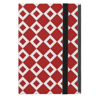 Red and White Diamond Pattern Cases For iPad Mini