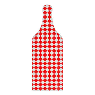 Red And White Diamond Pattern Cutting Board