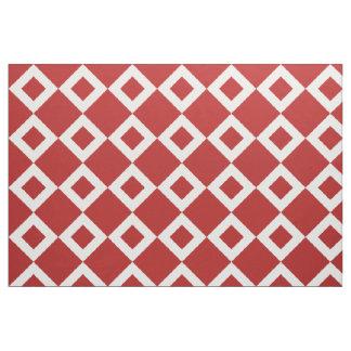 Red and White Diamond Pattern Fabric