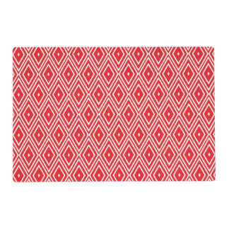 Red and White Diamond Pattern Placemat