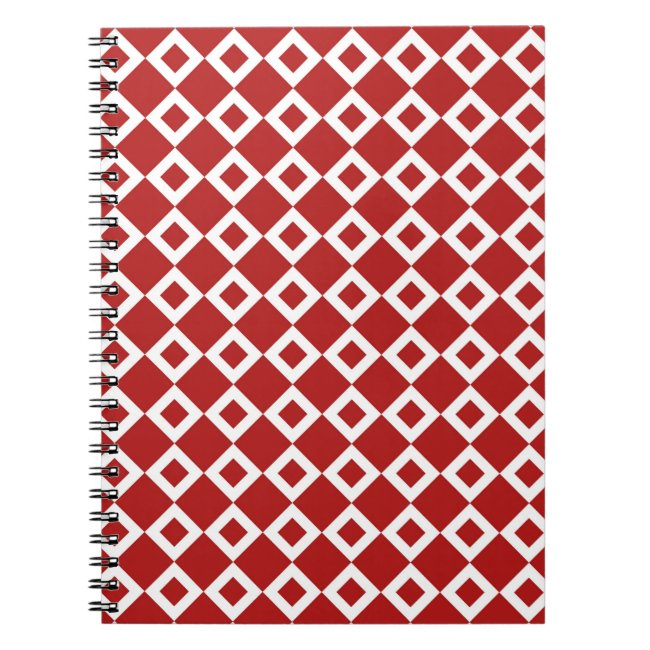 Red and White Diamond Pattern