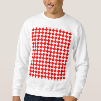 Red And White Diamond Pattern Sweatshirt