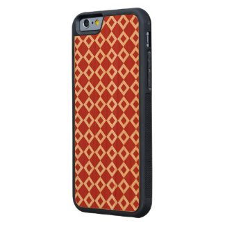 Red and White Diamond Pattern Carved® Cherry iPhone 6 Bumper Case