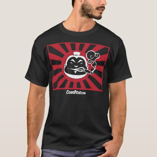 Red and white Dojo icon on Dark T T_Shirt