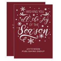 Red and White Elegant Modern Business holiday Card