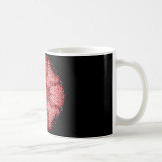 Red and White Filigree Design Coffee Mug